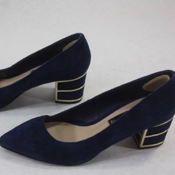 52a6bcd9bb01 Steven By Steve Madden Shoes | Steve Madden Buena Navy And Gold ...